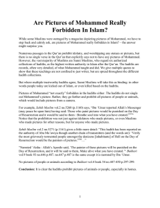 Pictures of Mohammed are not forbidden in the Qur