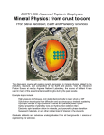 Mineral Physics: from crust to core