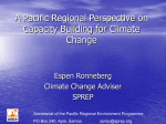 A Pacific Regional Perspective on Capacity Building for Climate