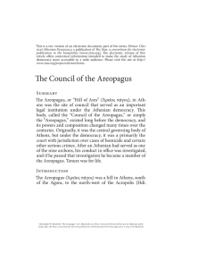 e Council of the Areopagus