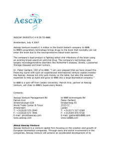 Aescap invests invests € 4 M in TO