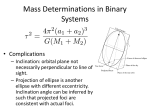 Mass Determinations in Binary Systems