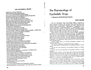 The Pharmacology of Psychedelic Drugs