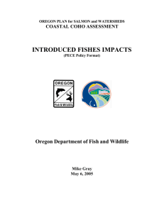 Final Introduced Fish Report - Oregon Department of Fish and Wildlife