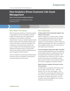 How Analytics Drives Customer Life-Cycle Management