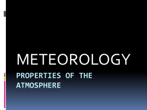 Properties of the atmosphere