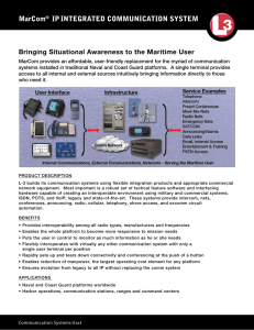 MarCom® IPINTEGRATED COMMUNICATION SYSTEM