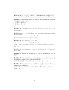 MAT 200, Logic, Language and Proof, Fall 2015 Practice Questions