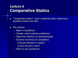 06--Comparative Statics
