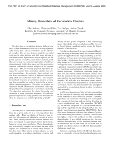 Mining Hierarchies of Correlation Clusters