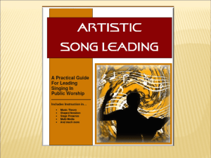 Artistic Song Leading (Lesson 1)