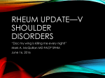 Shoulder Disorders in Primary Care