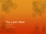 The Latin West - Mrs. Stroo`s WHAP