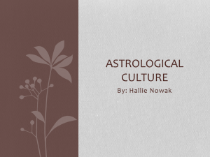 Astrological culture