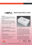 XP95 Input Output Unit.indd
