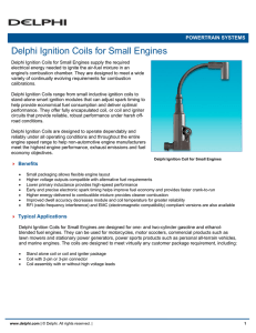 Delphi Ignition Coils for Small Engines