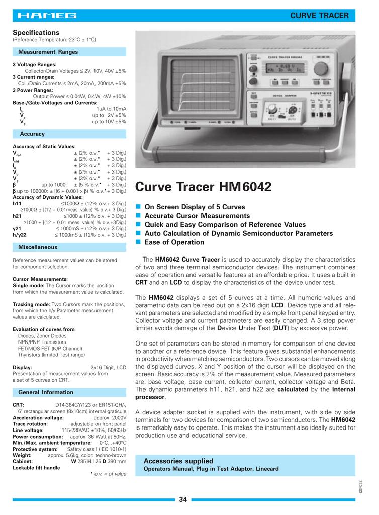 Curve Tracer HM6042