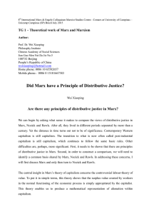Did Marx have a Principle of Distributive Justice - IFCH