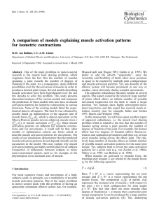 A comparison of models explaining muscle activation patterns for
