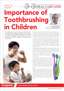 Importance of Toothbrushing