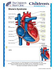 Shone`s Syndrome - Children`s Heart Clinic