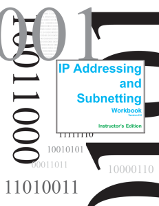 Ip Addressing and Subnetting Workbook