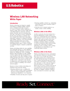Wireless LAN Networking