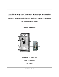 Local Battery to Common Battery Conversion