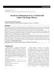 Anesthesia Management in an 11-Month Old Infant with