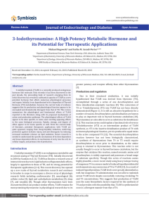 3-Iodothyronamine: A High Potency Metabolic Hormone and its