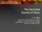The Recorded Sounds of Music