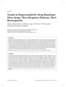 Trends in Hypersensitivity Drug Reactions: More drugs, More