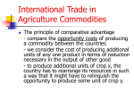 International Trade in Agriculture Commodities