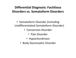 Differential Diagnosis: Factitious Disorders vs. Somatoform Disorders