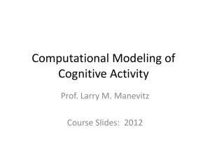 Brain and Cognitive Modeling and Neurocomputation