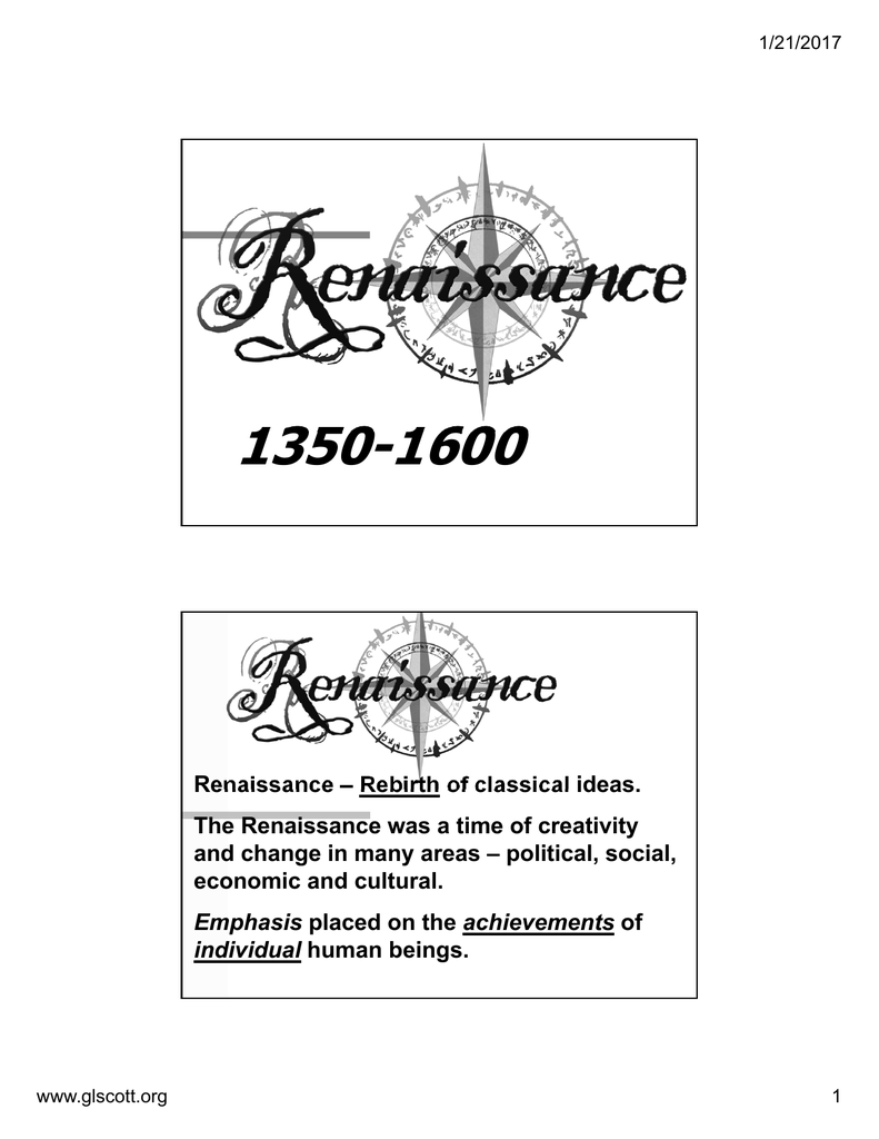 what was the renaissance a rebirth of