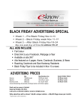 black friday advertising special advertising prices