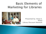 Basic Elements of Marketing for Libraries