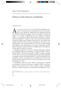 Nature in the Sources of Judaism