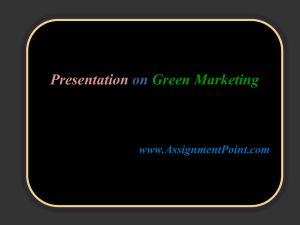 What is Green marketing?