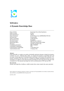 A Dynamic Knowledge Base - K