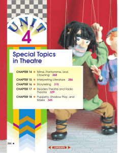 Special Topics in Theatre