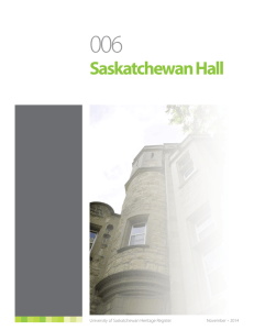 Saskatchewan Hall - Facilities Management Division