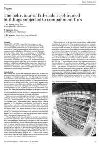 The behaviour of full-scale steel-framed buildings subjected to