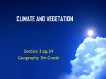 climate and vegetation - 6thgrade