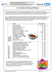 Iron Content of Foods (Children) - Norfolk and Norwich University