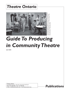 Guide To Producing in Community Theatre