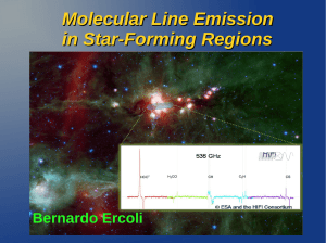 Molecular Line Emission in Star