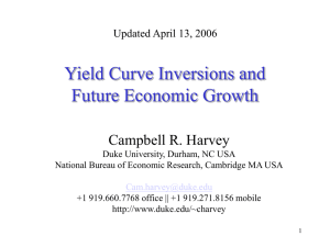 Yield Curve Inversions and Future Economic Growth.