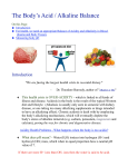 The Body`s Acid / Alkaline Balance